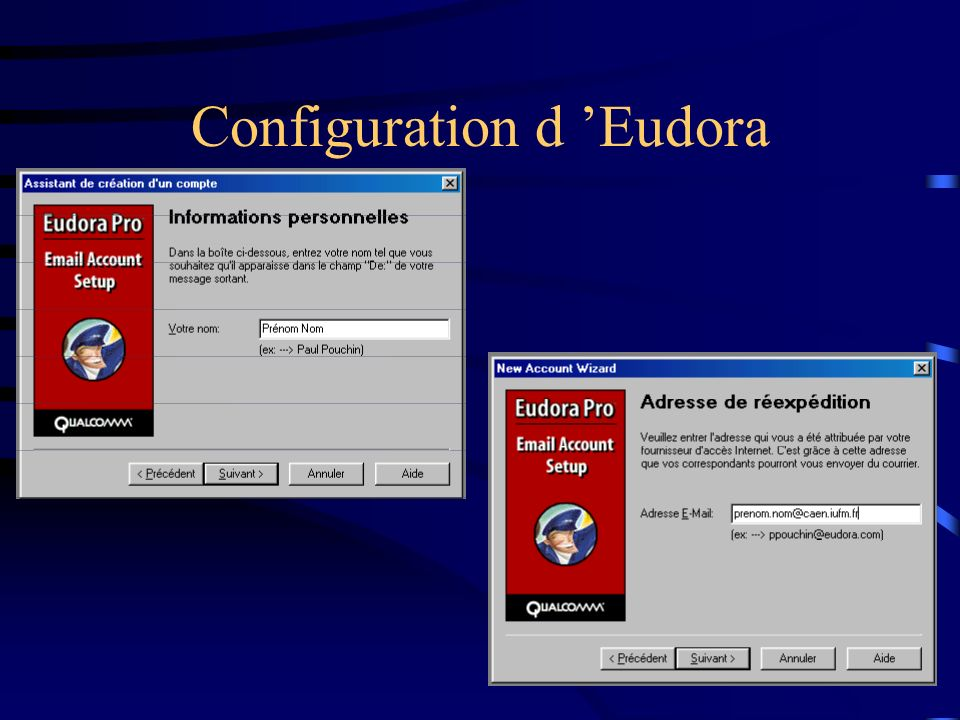 Configuration d 'Eudora