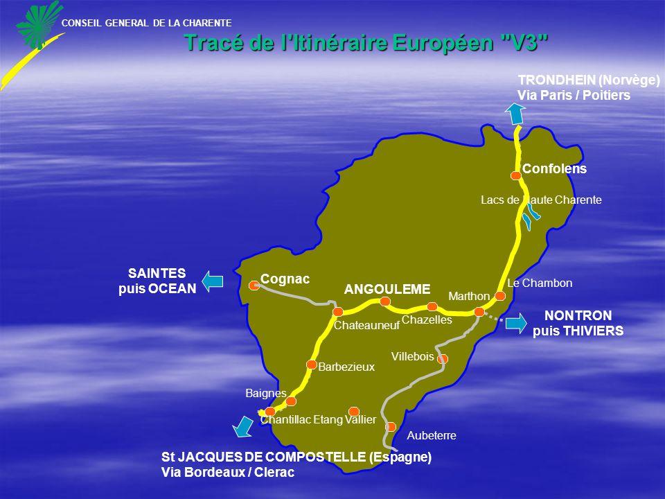 Tracé de l Itinéraire Européen V3
