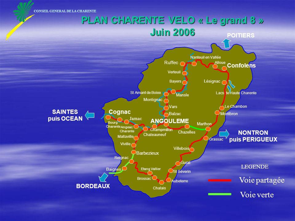 PLAN CHARENTE VELO « Le grand 8 » Juin 2006