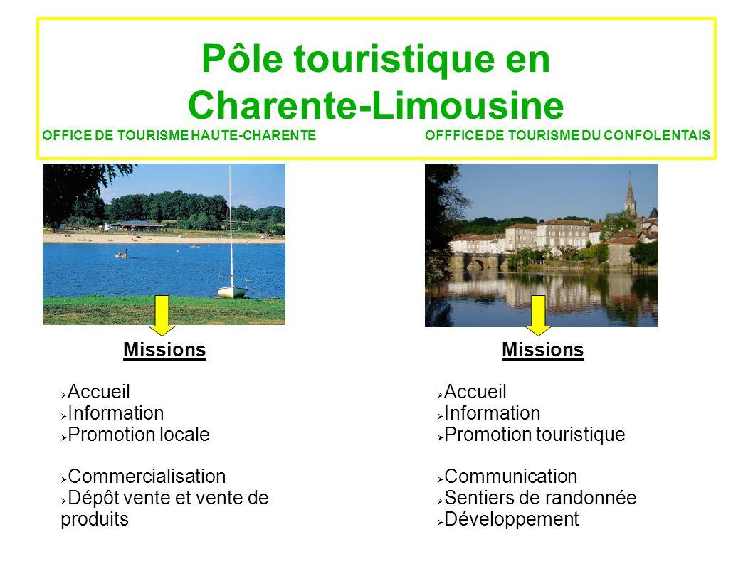 Pôle touristique en Charente-Limousine OFFICE DE TOURISME HAUTE-CHARENTE OFFFICE DE TOURISME DU CONFOLENTAIS