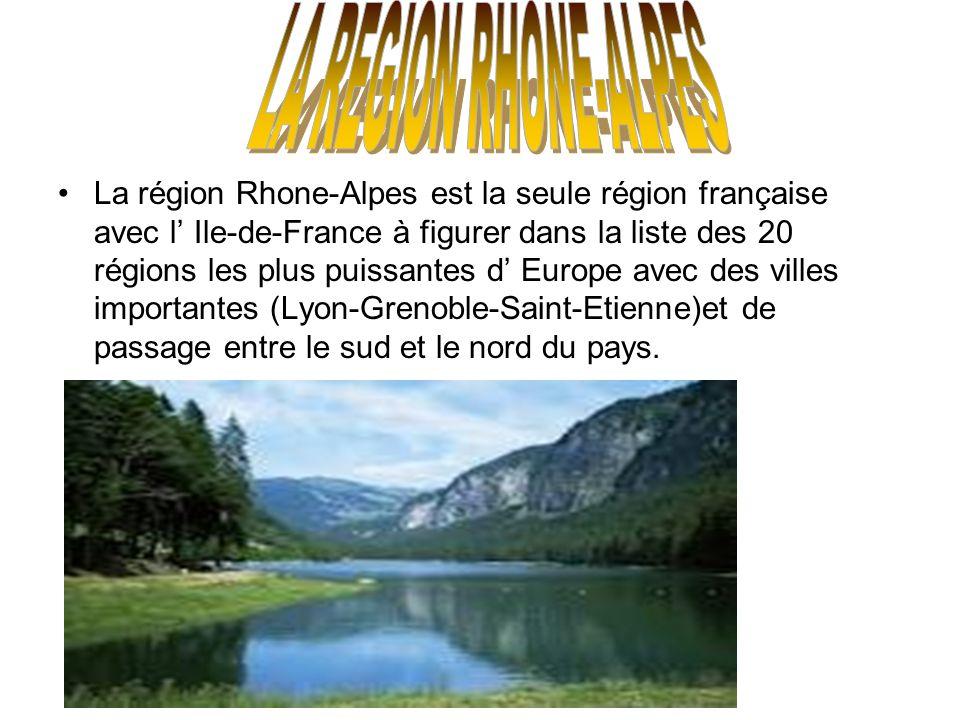 LA REGION RHONE-ALPES