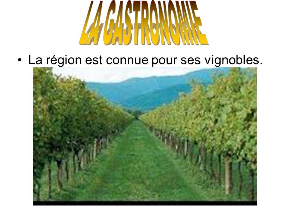 LA GASTRONOMIE La région est connue pour ses vignobles.