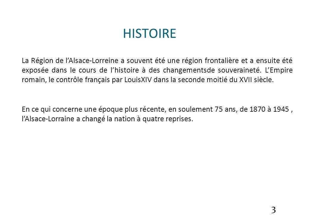 Alsace-Lorraine HISTOIRE.