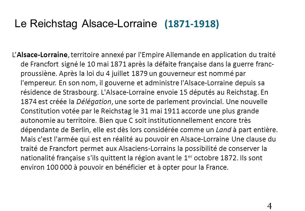 Le Reichstag Alsace-Lorraine (1871-1918)
