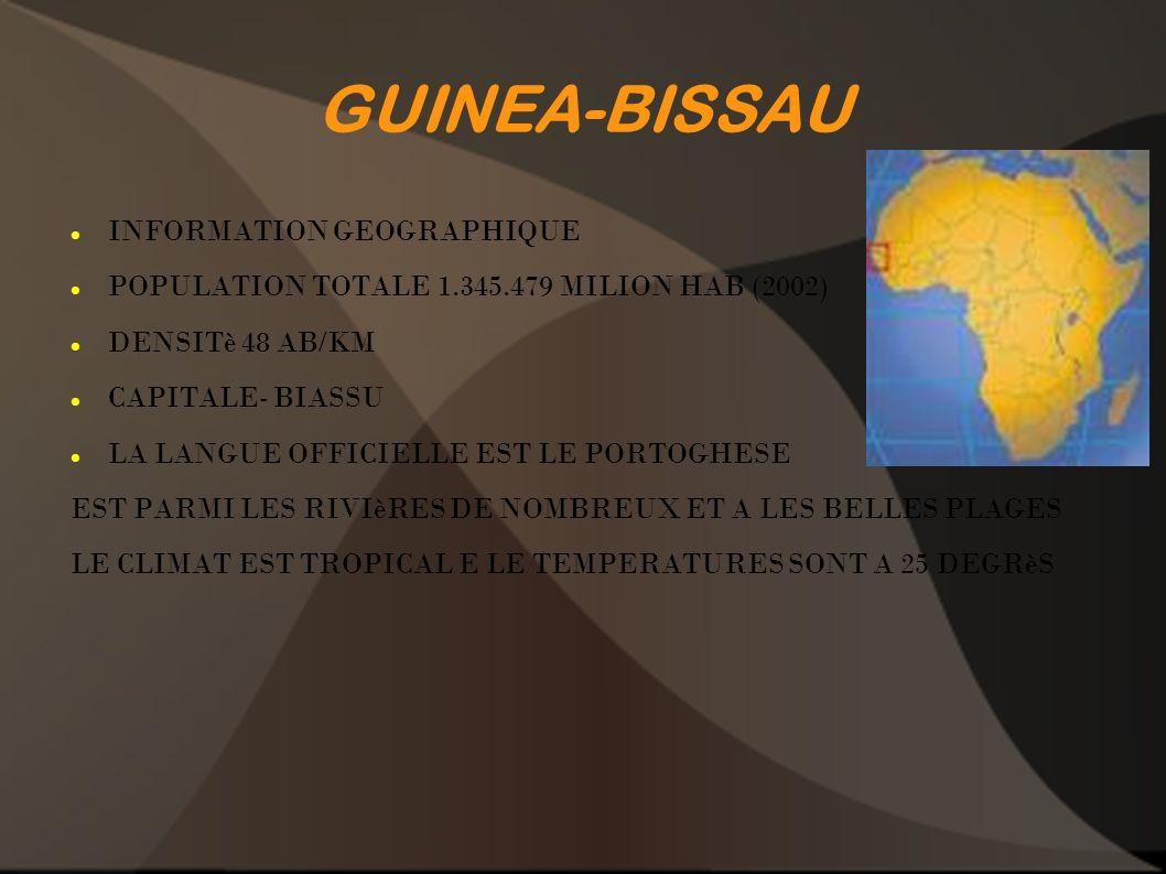 GUINEA-BISSAU INFORMATION GEOGRAPHIQUE