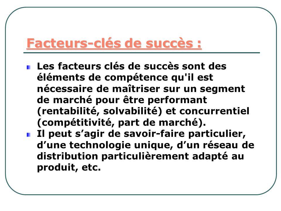 Facteurs-clés de succès :