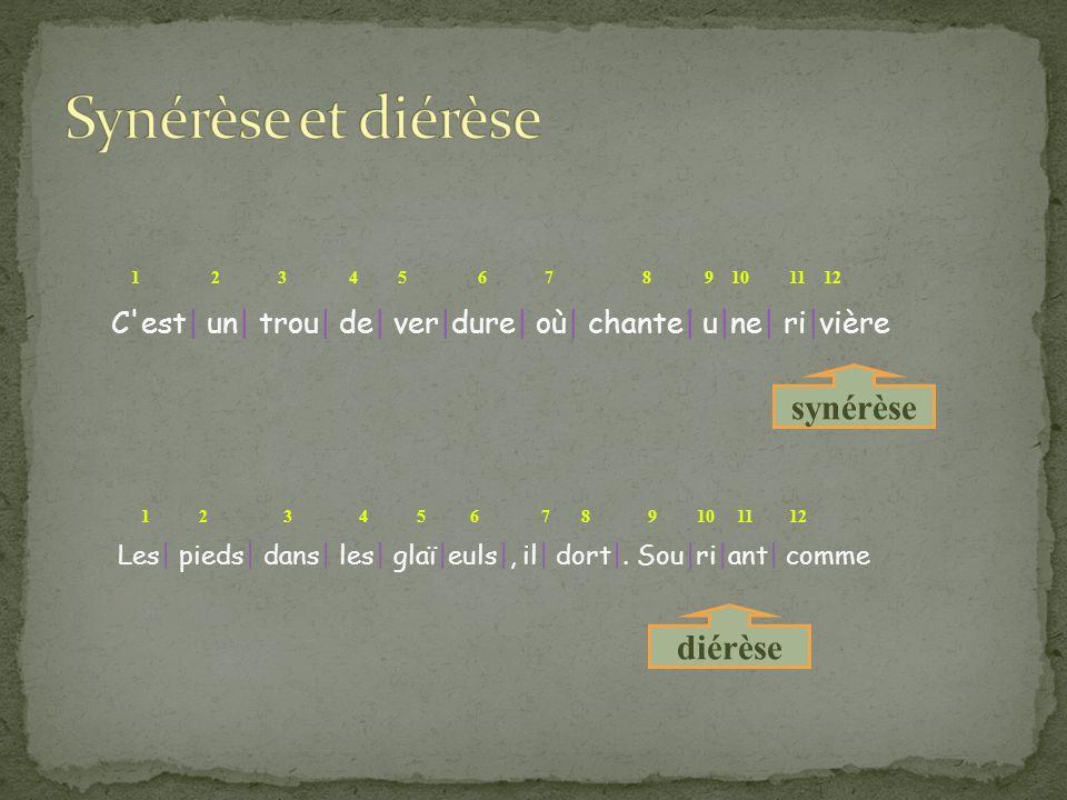 Synérèse et diérèse synérèse diérèse
