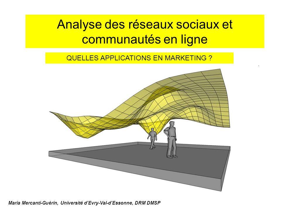 Analyse des réseaux sociaux et communautés en ligne