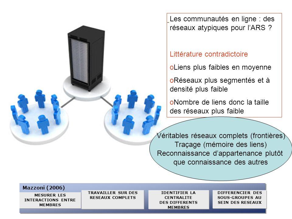 Les communautés en ligne : des réseaux atypiques pour l'ARS