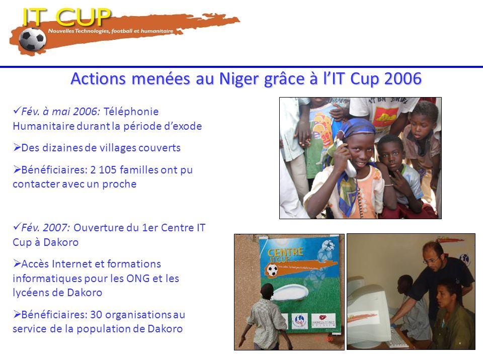 Actions menées au Niger grâce à l'IT Cup 2006