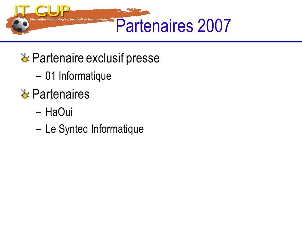 Partenaires 2007 Partenaire exclusif presse Partenaires