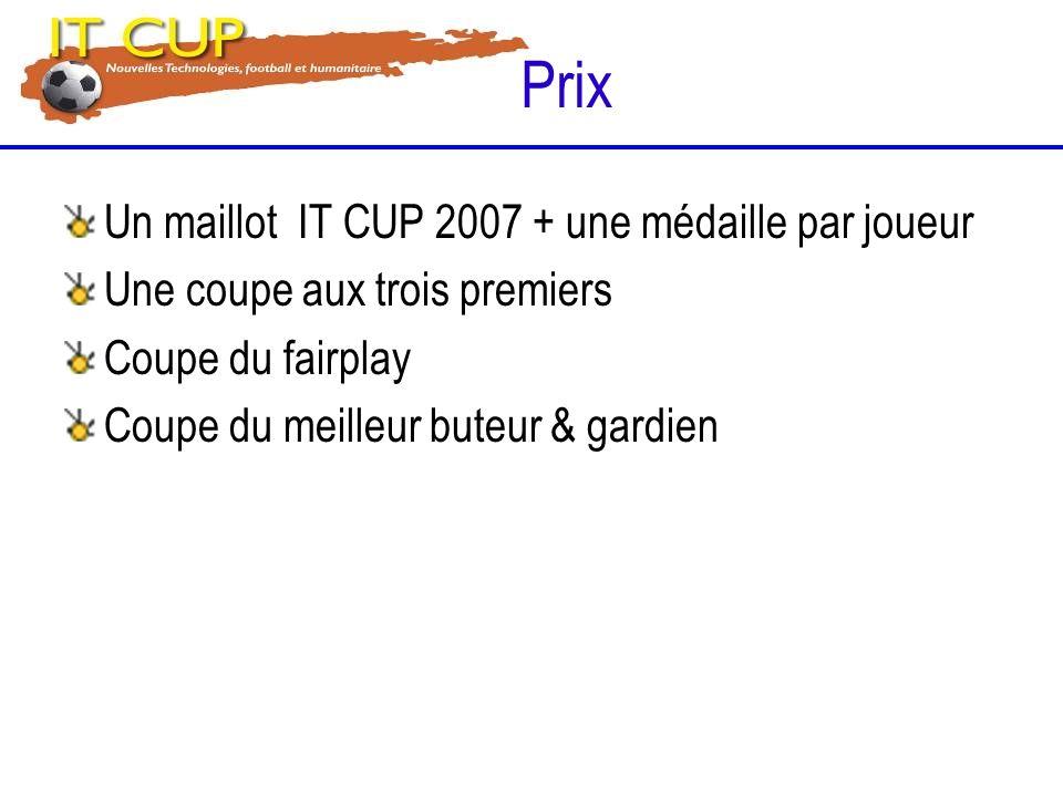 Prix Un maillot IT CUP 2007 + une médaille par joueur