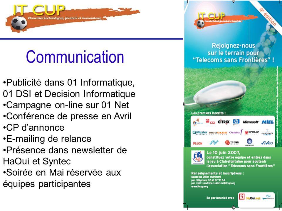 Communication Publicité dans 01 Informatique, 01 DSI et Decision Informatique. Campagne on-line sur 01 Net.