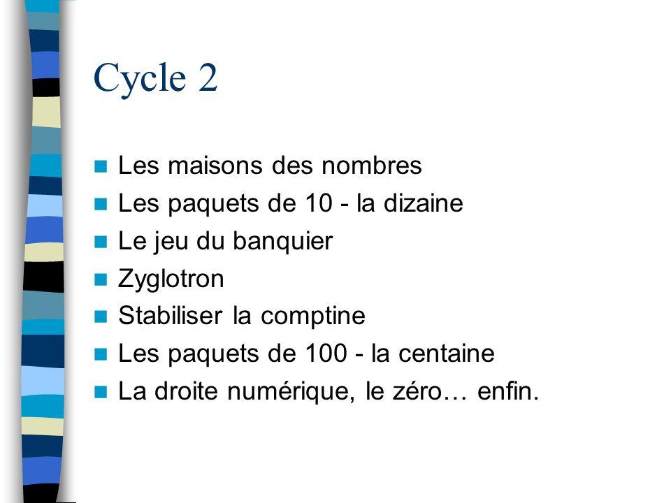 Cycle 2 Les maisons des nombres Les paquets de 10 - la dizaine
