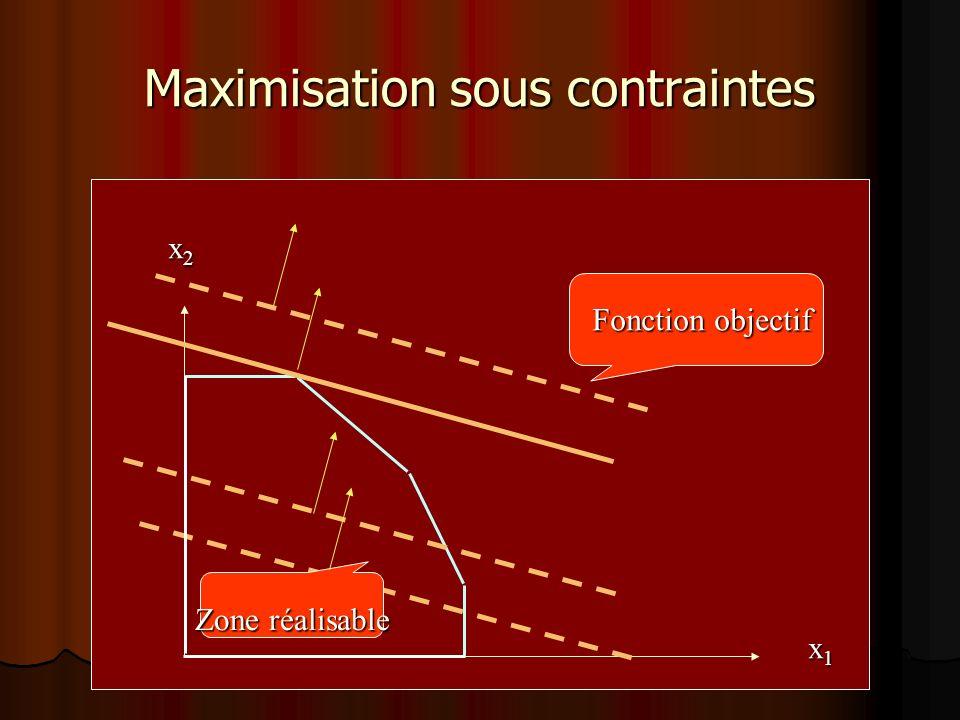 Maximisation sous contraintes