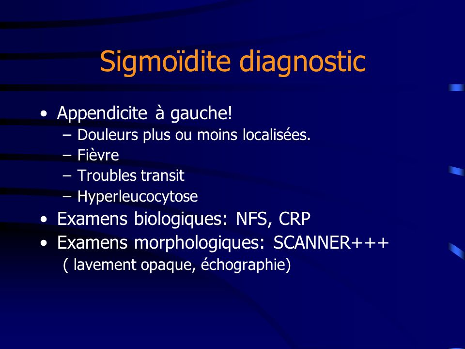 Sigmoïdite diagnostic