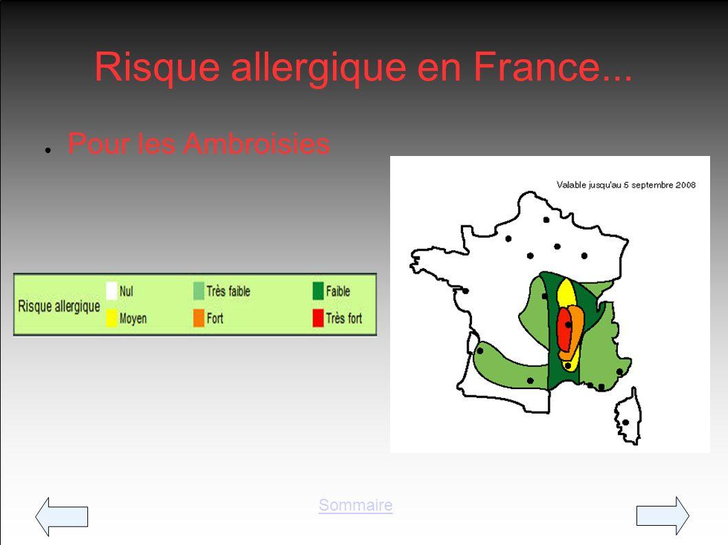 Risque allergique en Fr ance...
