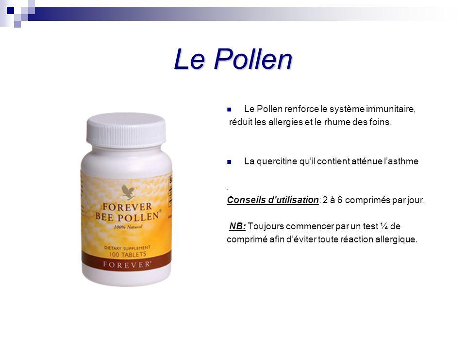 Le Pollen Le Pollen renforce le système immunitaire,