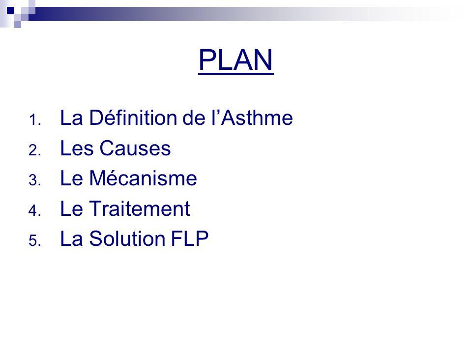 PLAN La Définition de l'Asthme Les Causes Le Mécanisme Le Traitement
