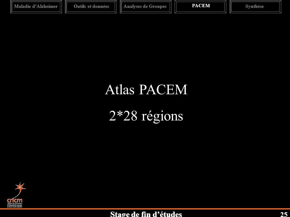 Atlas PACEM 2*28 régions 25 Maladie d'Alzheimer Outils et données