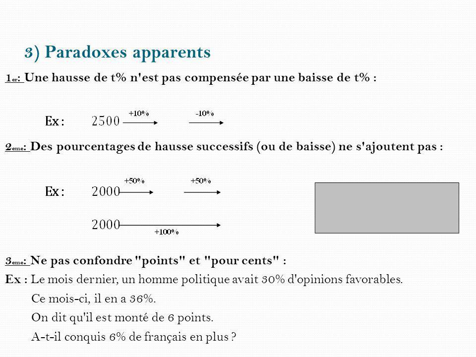 3) Paradoxes apparents