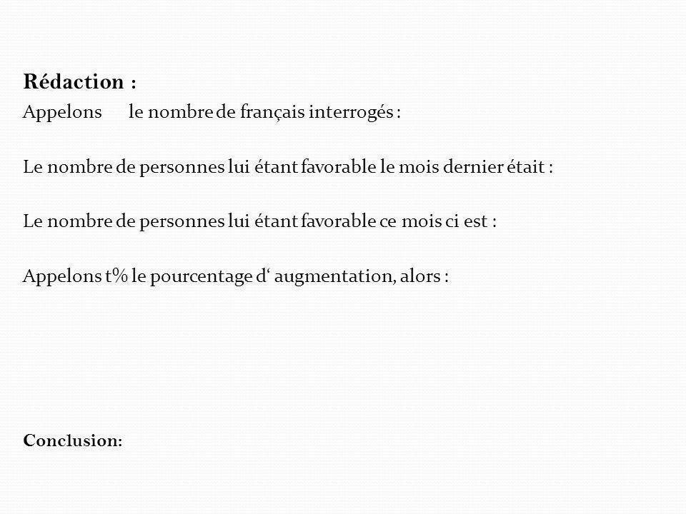 Rédaction : Appelons le nombre de français interrogés :