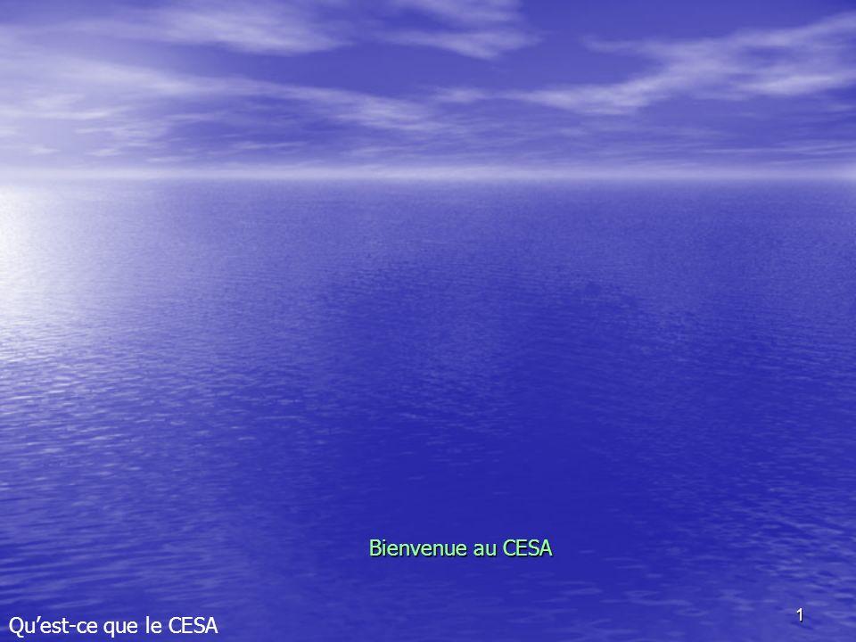 Bienvenue au CESA Qu'est-ce que le CESA