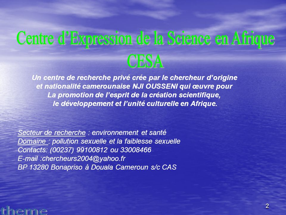 Centre d'Expression de la Science en Afrique CESA