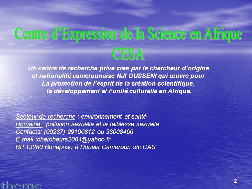 Centre d'Expression de la Science en Afrique CESA