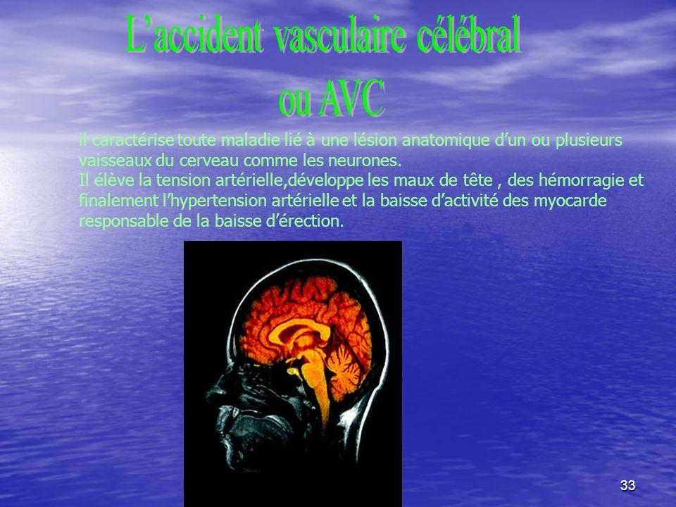 L'accident vasculaire célébral