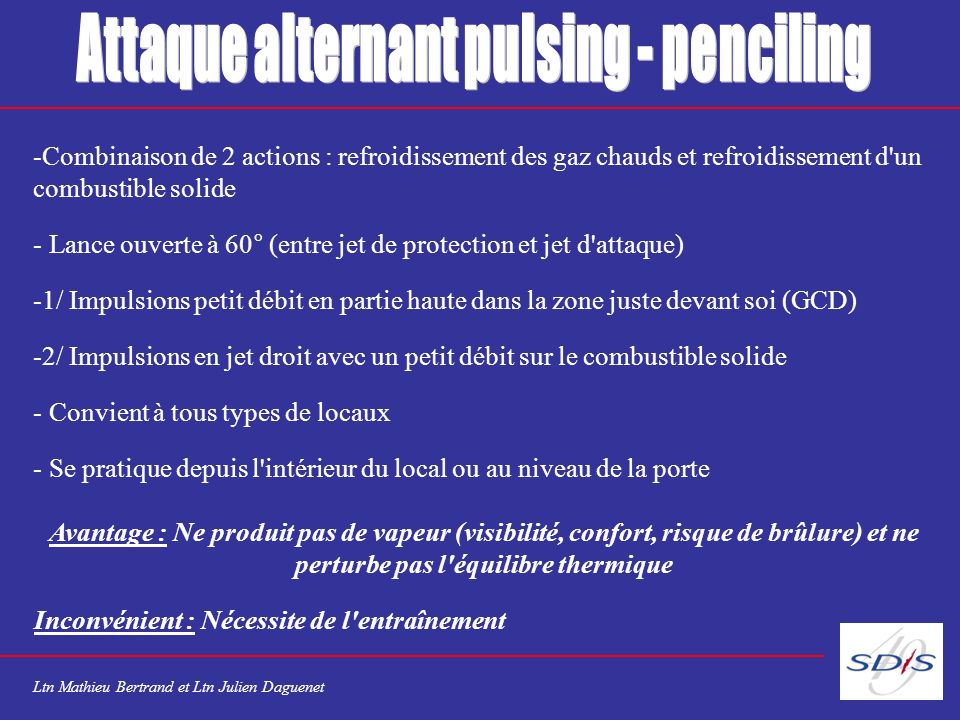Attaque alternant pulsing - penciling