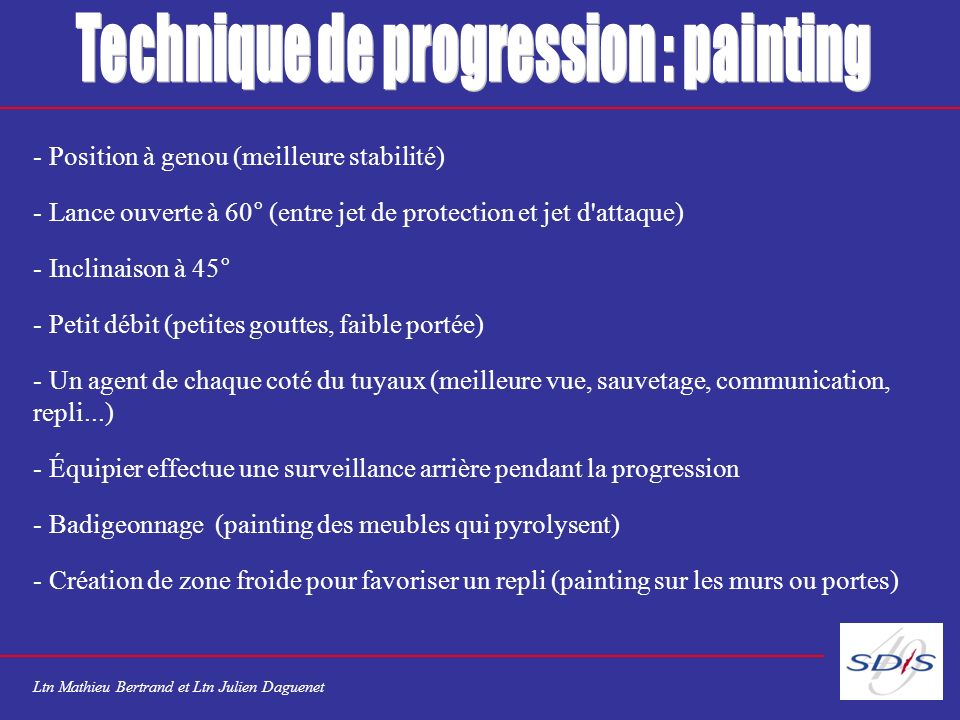 Technique de progression : painting