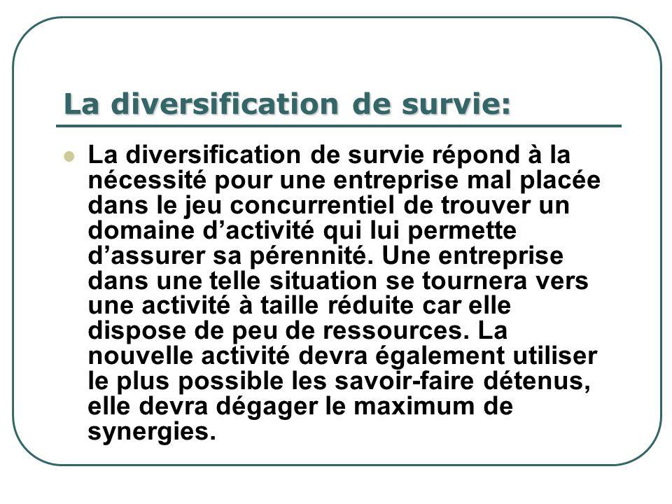 La diversification de survie: