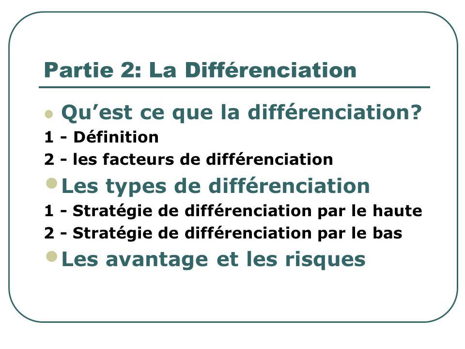Partie 2: La Différenciation