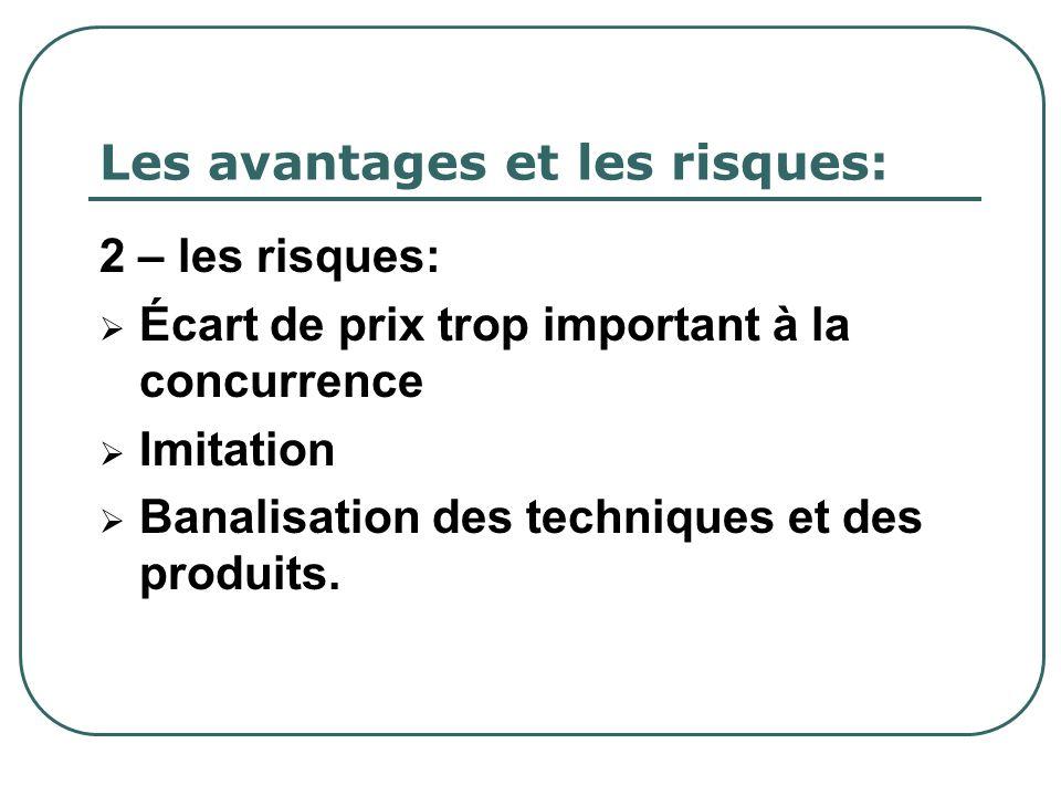 Les avantages et les risques: