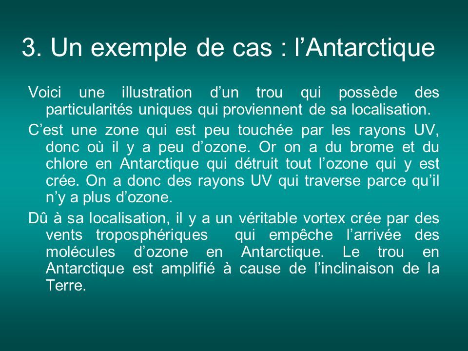 3. Un exemple de cas : l'Antarctique