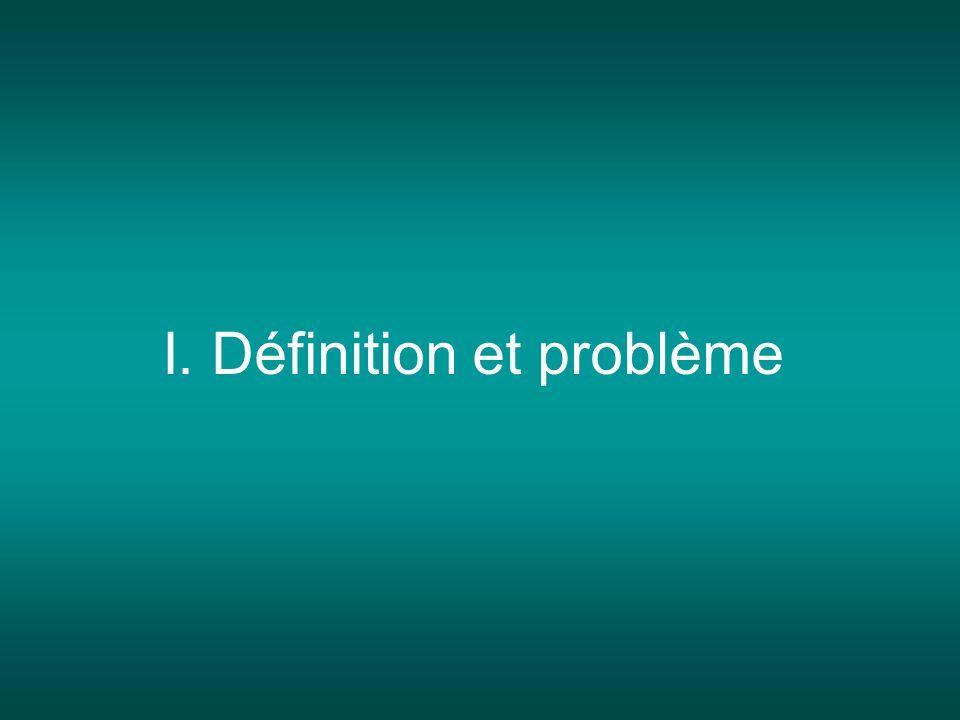 I. Définition et problème