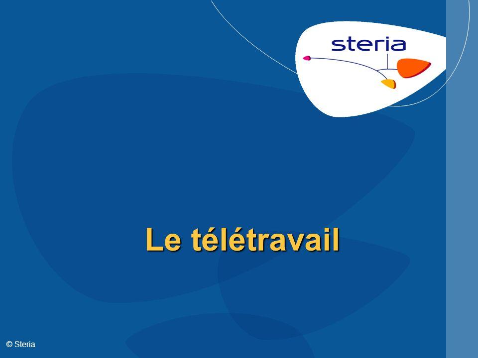 Le télétravail © Steria