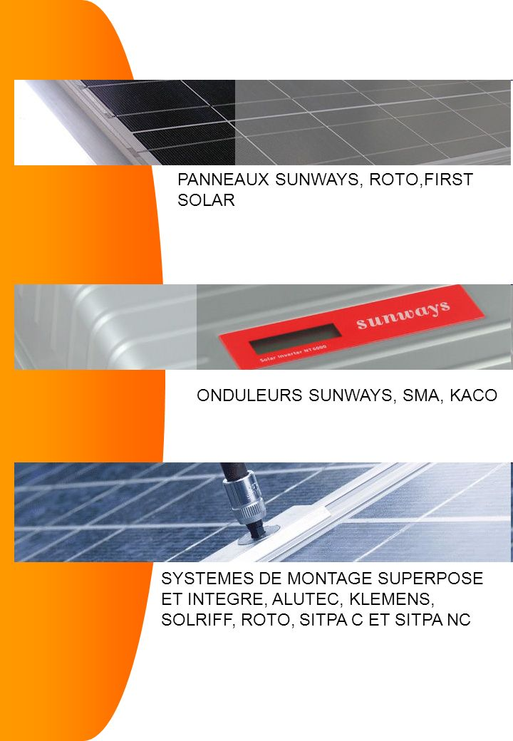 PANNEAUX SUNWAYS, ROTO,FIRST SOLAR