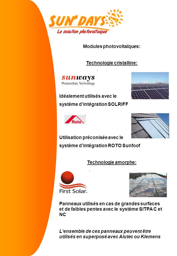 Modules photovoltaïques: Technologie cristalline: