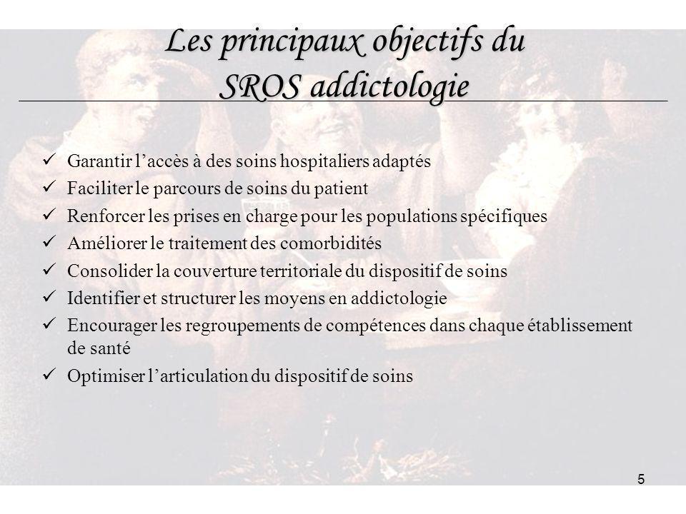 Les principaux objectifs du SROS addictologie