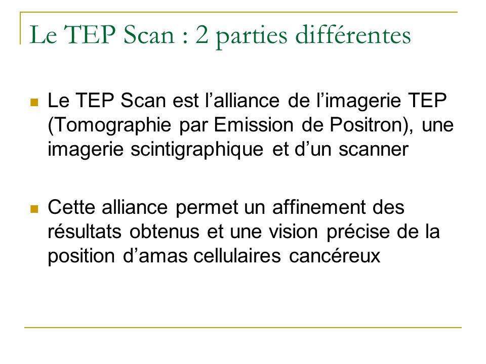 Le TEP Scan : 2 parties différentes
