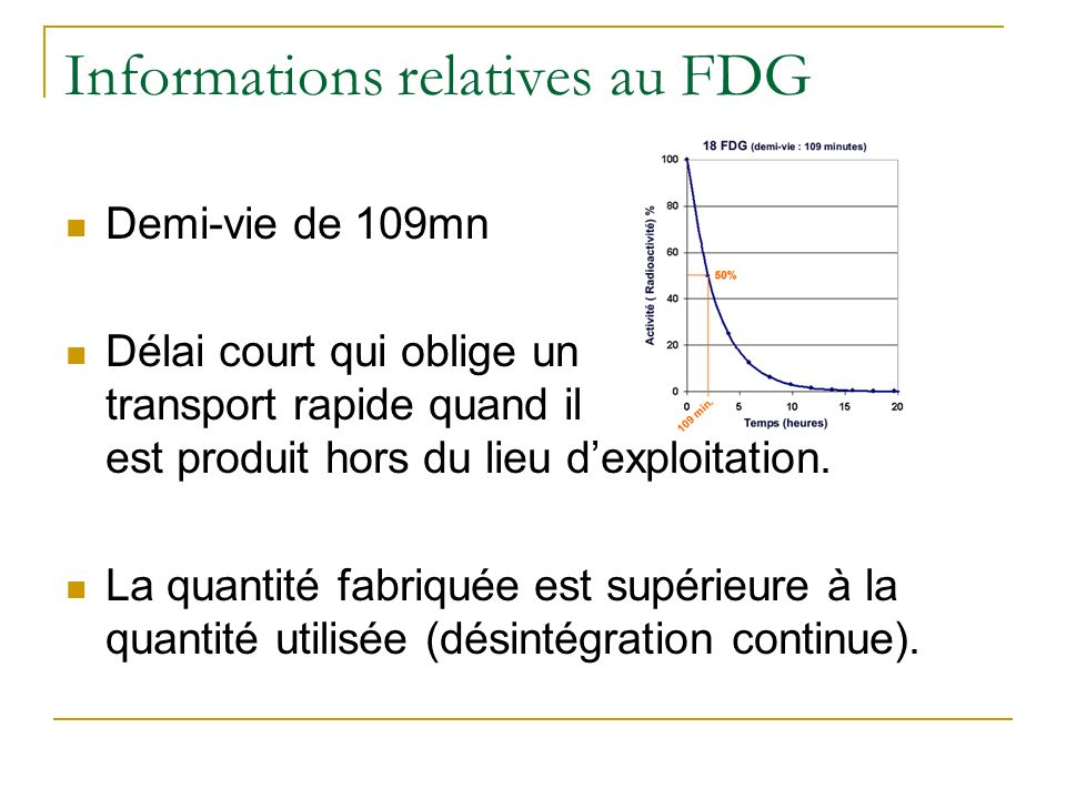 Informations relatives au FDG