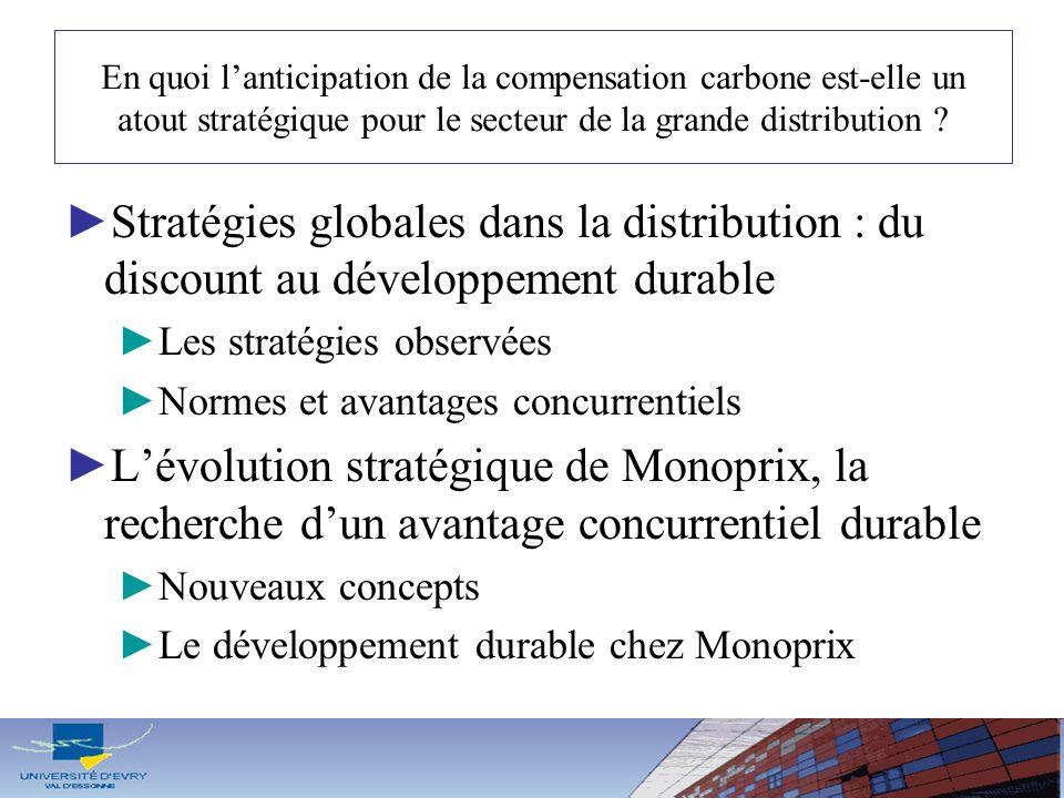 En quoi l'anticipation de la compensation carbone est-elle un atout stratégique pour le secteur de la grande distribution