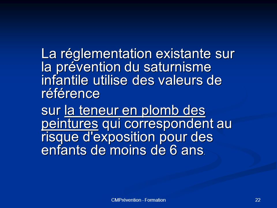 CMPrévention - Formation