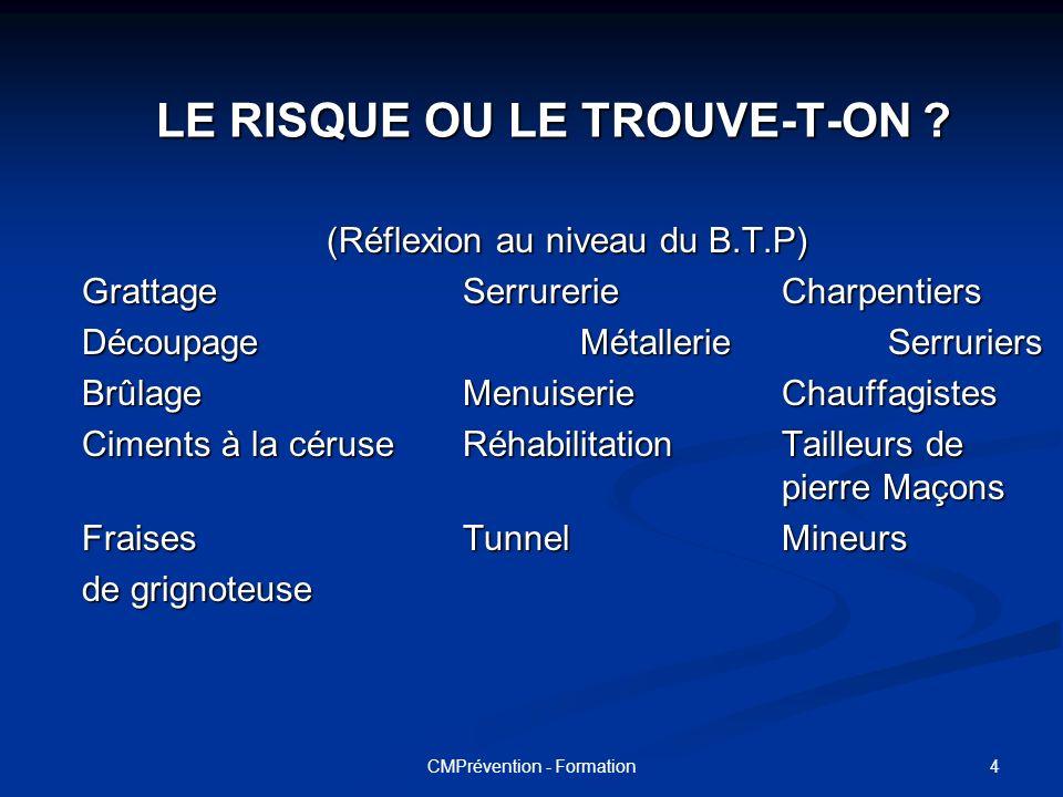 LE RISQUE OU LE TROUVE-T-ON