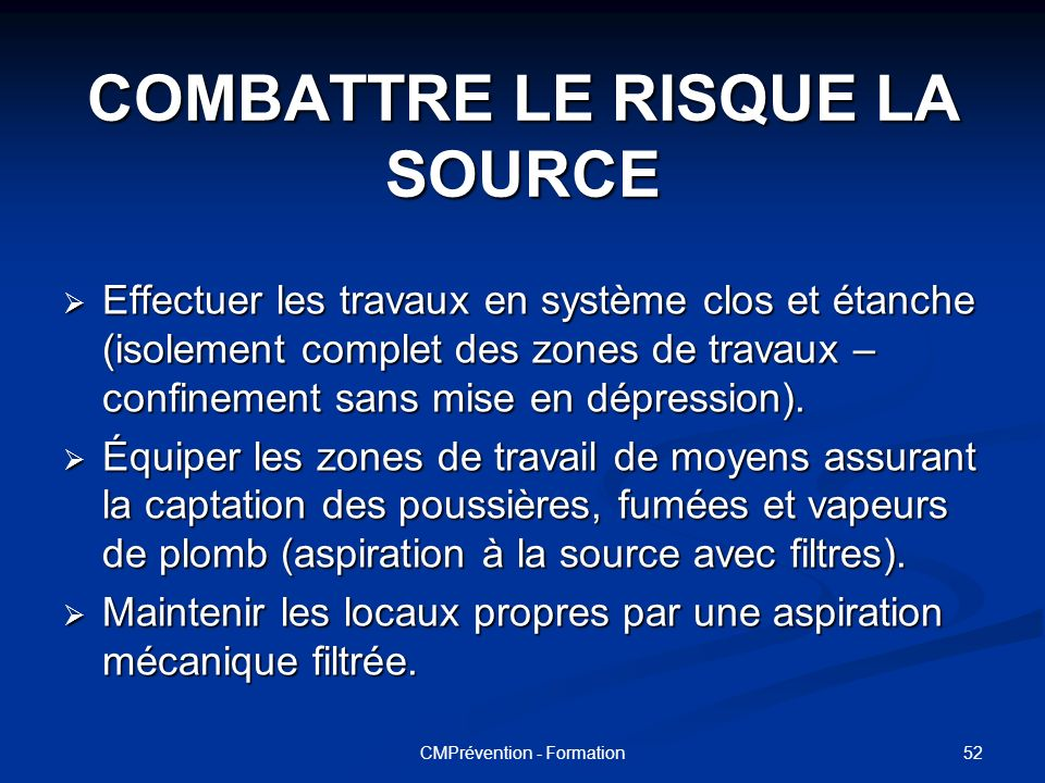 COMBATTRE LE RISQUE LA SOURCE