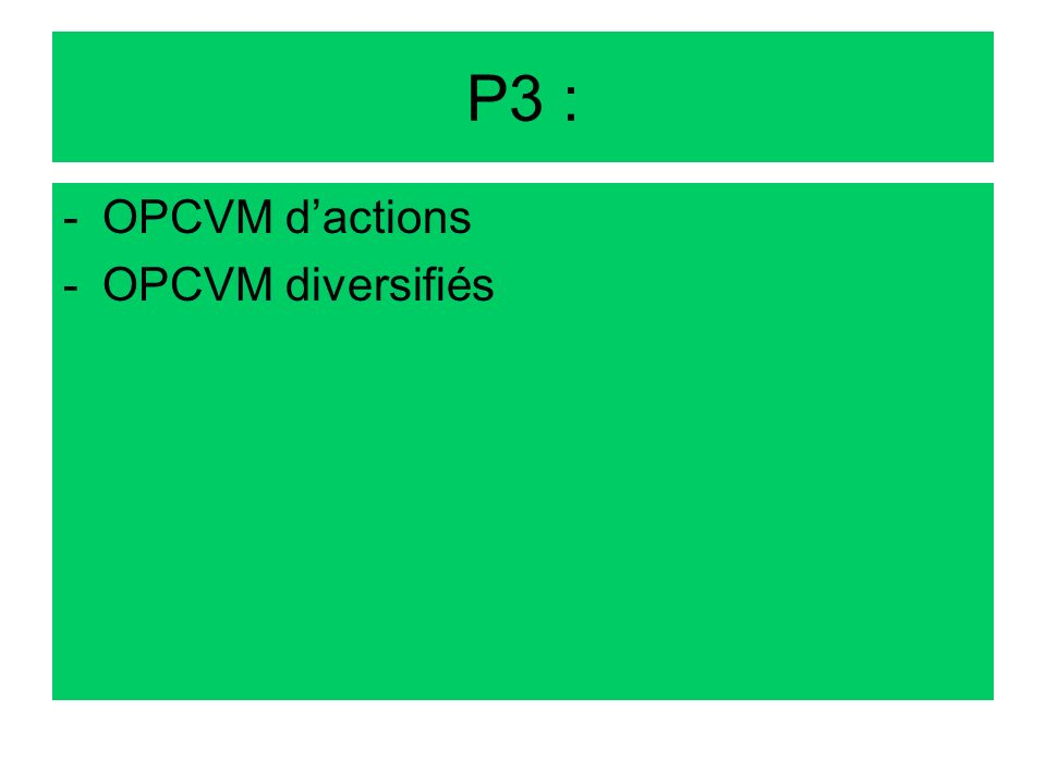 P3 : OPCVM d'actions OPCVM diversifiés