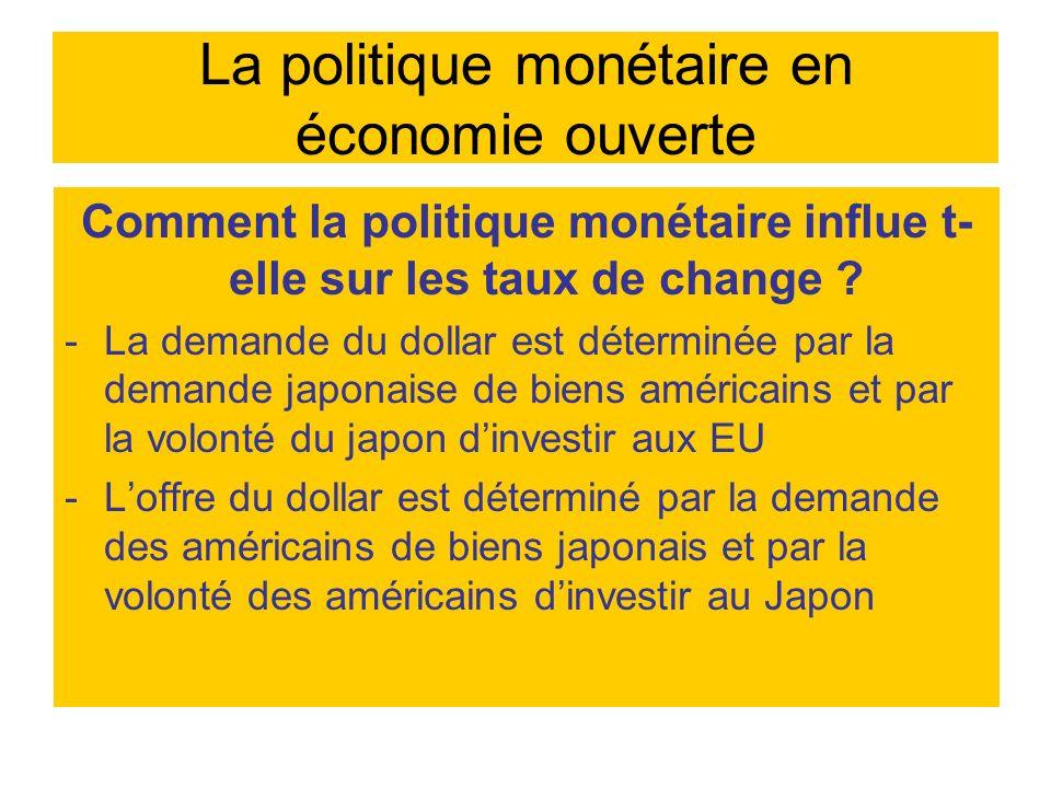 La politique monétaire en économie ouverte