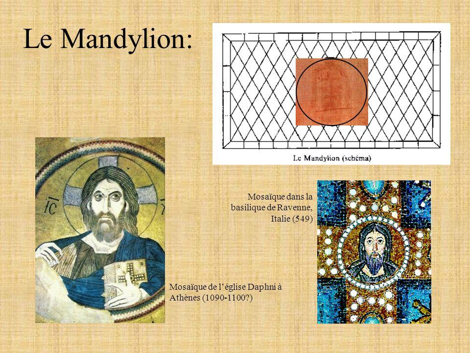 Le Mandylion: Mosaïque dans la basilique de Ravenne, Italie (549)